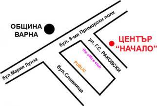 """Карта към център """"НАЧАЛО"""""""